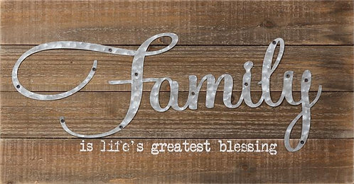 Life's Greatest Blessing Wood Plank Sign