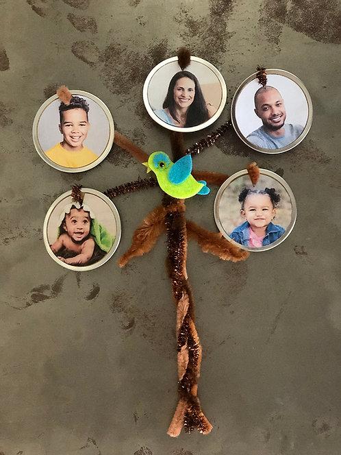 DIY Family Tree Photo Magnet Kit