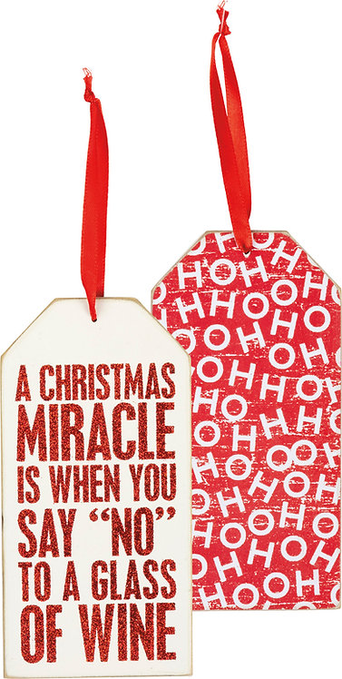 Christmas Miracle Bottle Tag