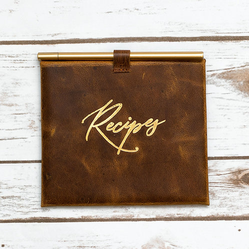 """Leather """"Recipes"""" Envelop and Cards"""