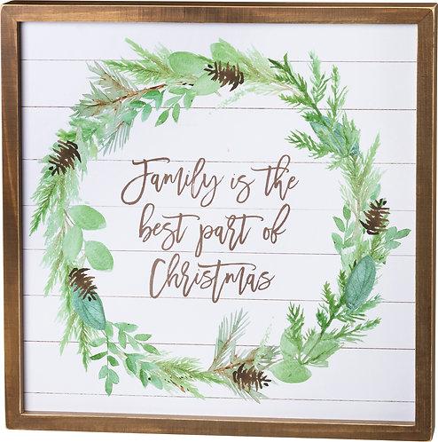 Family, Best Part of Christmas Slat Box Sign