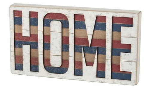 Home Slat Box Sign