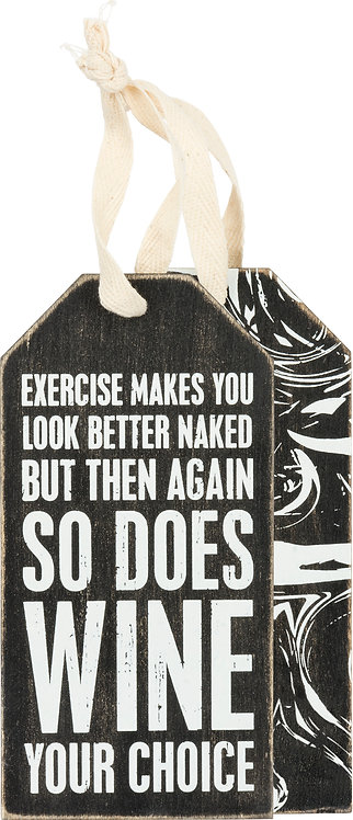 Exercise Bottle Tag
