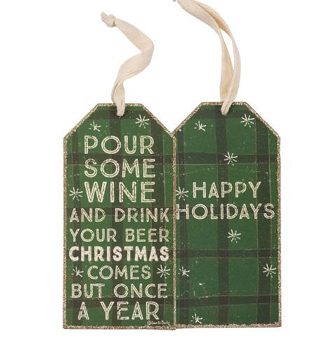 Pour Some Wine Bottle Tag
