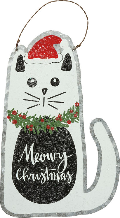 Meowy Christmas Hanger