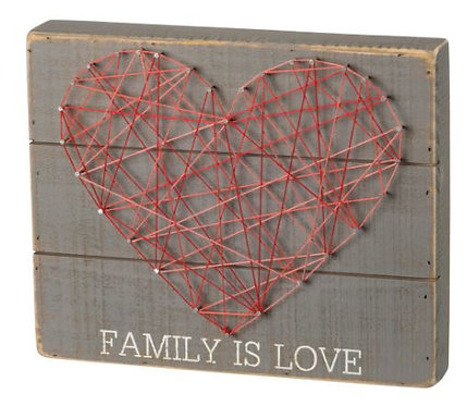 Family Love String Box Sign