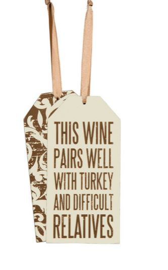 Pairs with Turkey Bottle Tag