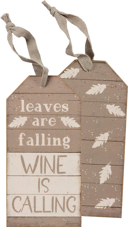 Leaves Are Falling Bottle Tag
