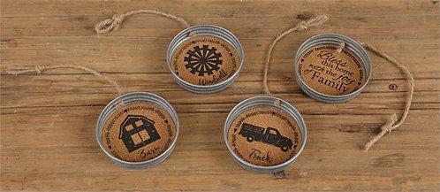 Farmhouse Ornaments/Magnets (Set of 4)