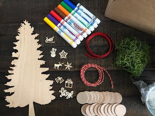 DIY Rustic Family Christmas Tree Kit
