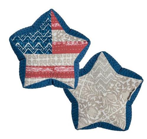 Patriotic Star Pillow