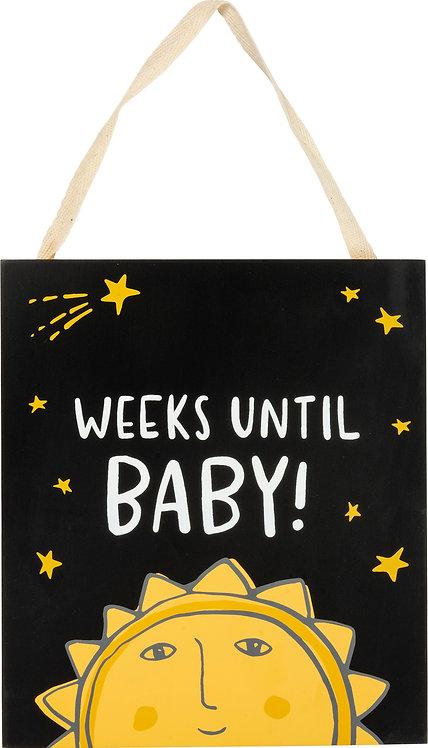 Weeks Until Baby Chalk Countdown
