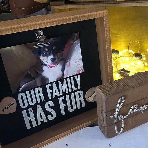 Our Family Has Fur Clip Frame - Personalized
