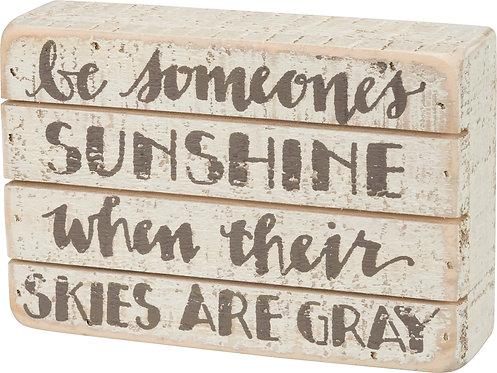 Sunshine Slat Box Sign