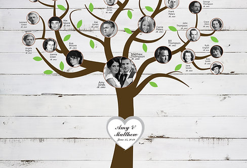 Blended Family Tree Canvas