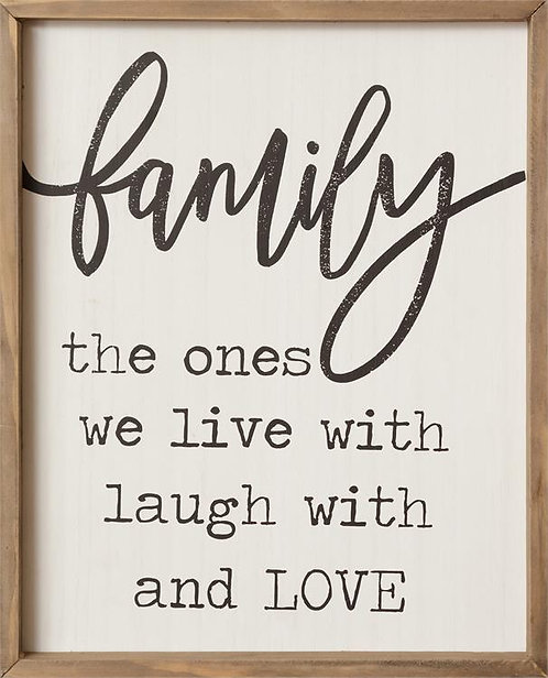 Family, Live Laugh & Love Box Sign
