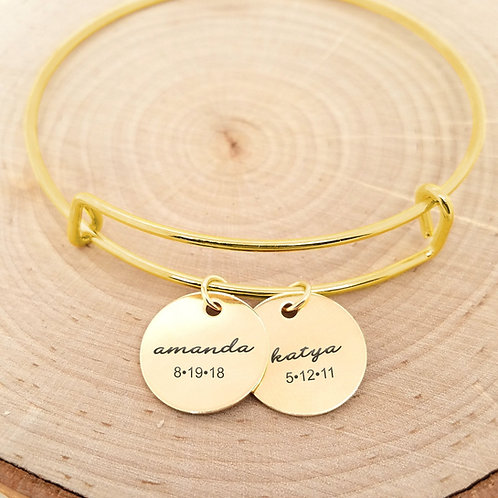 Custom Name & Date Bangle