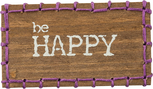 Be Happy Block Magnet