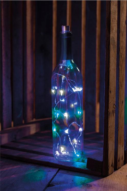 Tri-Color Blue LED Wine Bottle Lights