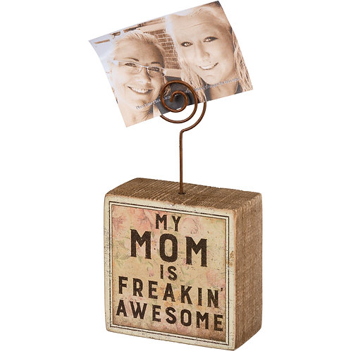 Mom Is Freakin' Awesome Photo Block