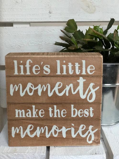 Little Moments Slat Box Sign