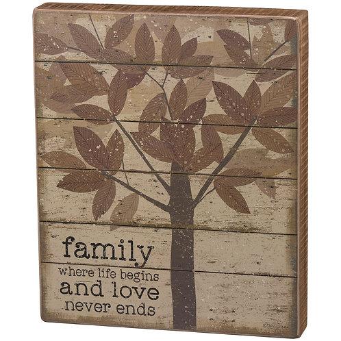 Family Life Begins Box Sign
