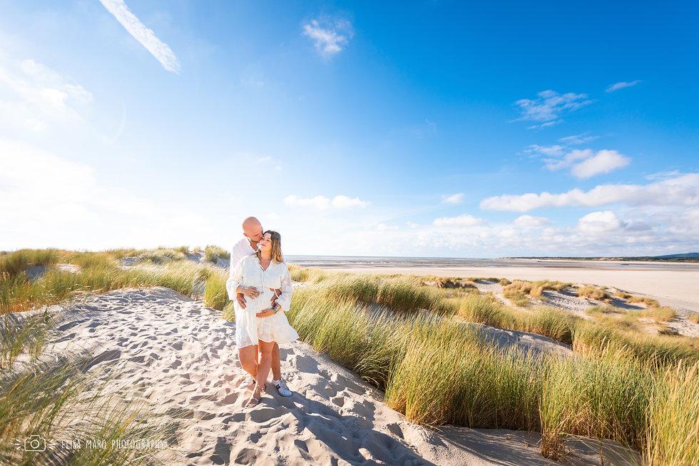 Shooting Photo Grossesse en exterieur sur la plage du Touquet, Hauts de France, Elisa Marq Photography Photographe