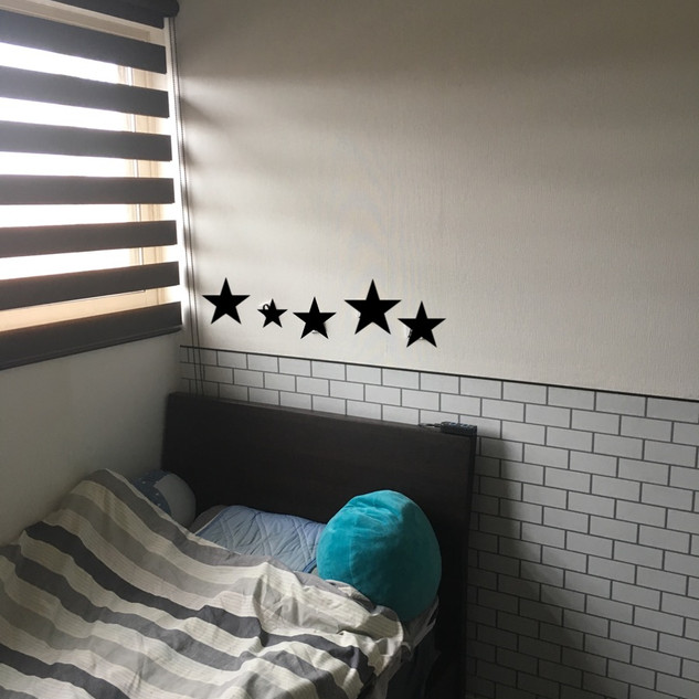 男の子キッズルーム4.5畳クロス施工