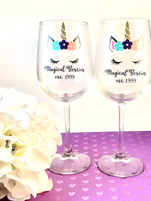 Magical Besties Wine Glass Set
