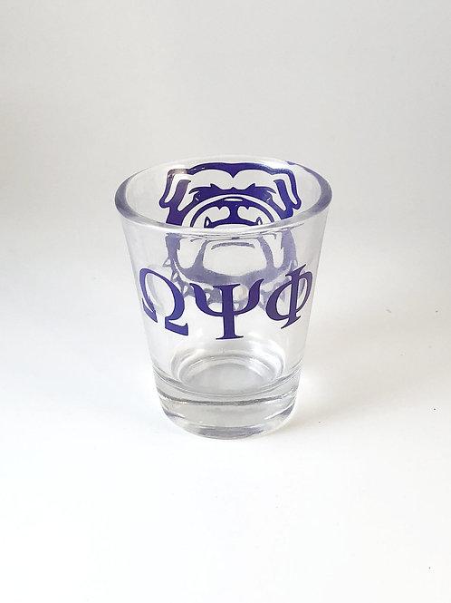 Omega Psi Phi Shot Glass