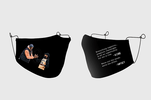 Kobe and Nipsey Quote Face Mask