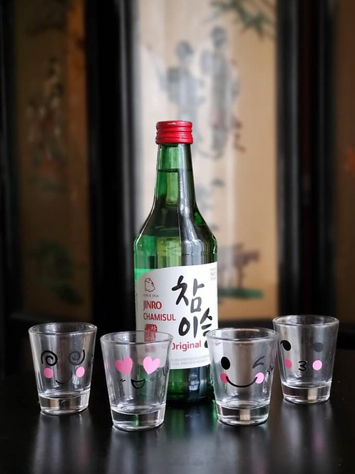 Korean Funny Face Shot Glasses