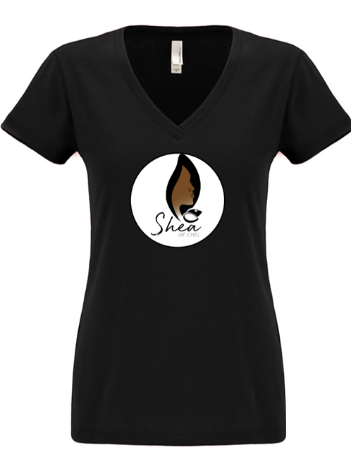 Business Logo - Women's V-Neck Tee