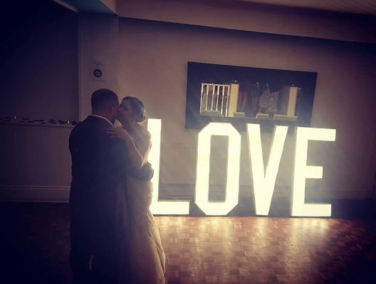 Love Letters to hire for weddings Derbyshire