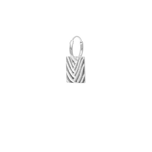 SQUARE PALM HOOP ZILVER