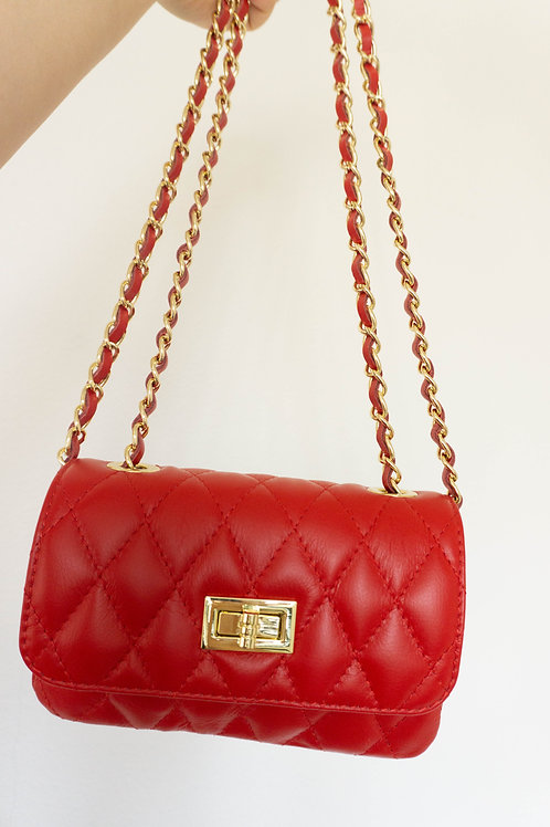SMALL CLASSIC QUILTED BAG CANDY RED