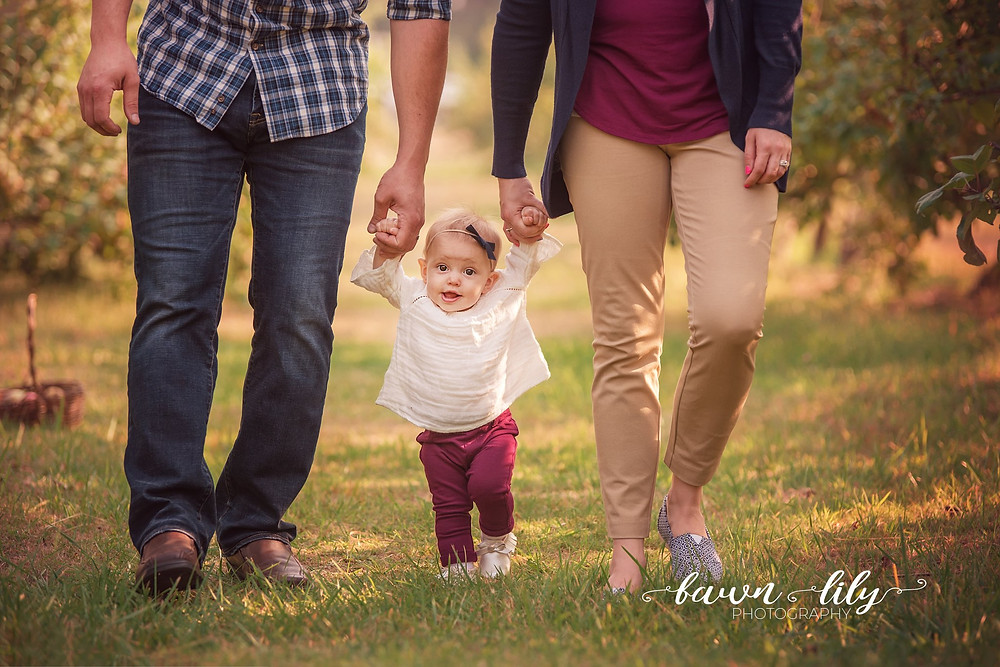 Baby Walking, Victoria BC Photographer, Sidney BC Family Photographer, Sea Cider