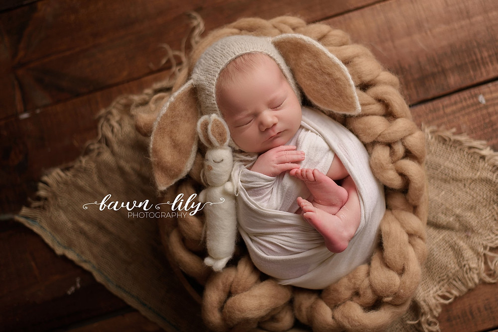 cute baby photos, baby poses, cute as a bunny, newborn photographer, Sidney BC photogrpaher