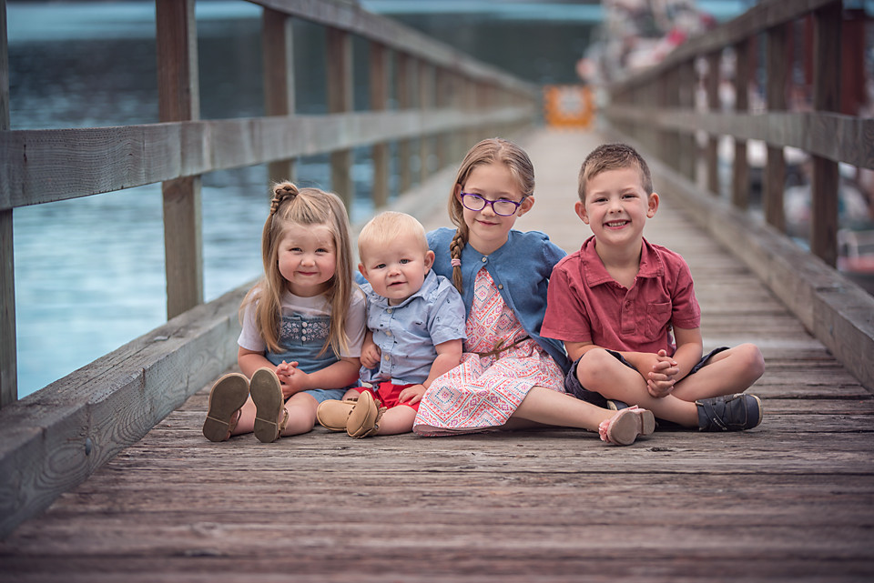 Kids on a pier, Fawn Lily Photography, Victoria BC Family Photographer