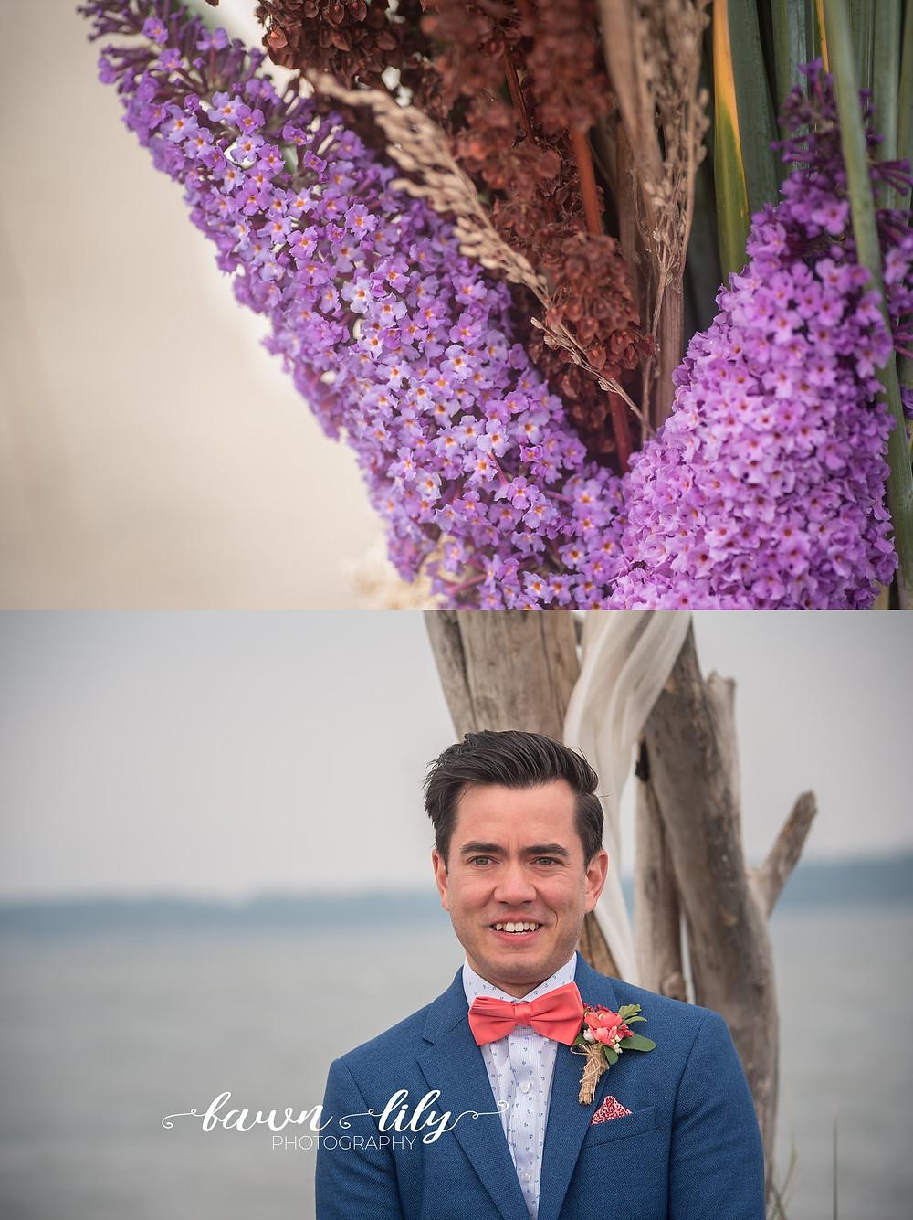 Macro wedding photo, Victoria BC wedding photos, Island View Beach
