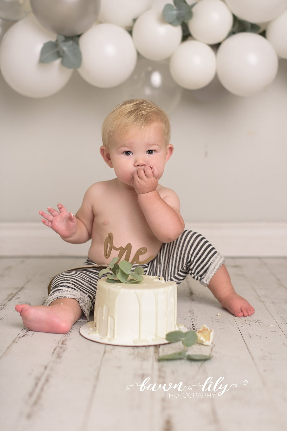 Cute Baby Boy Cake Smash, Fawn Lily Photography