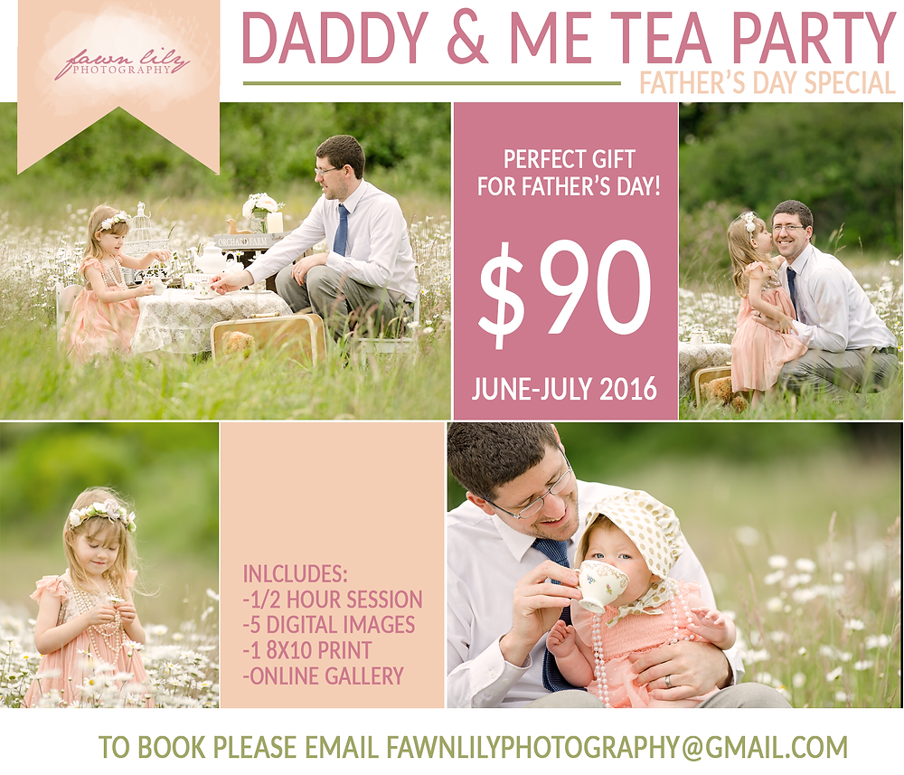 Fawn Lily Photography Sidney BC Photographer, Family Photographer, Father's Day Specials, Deal