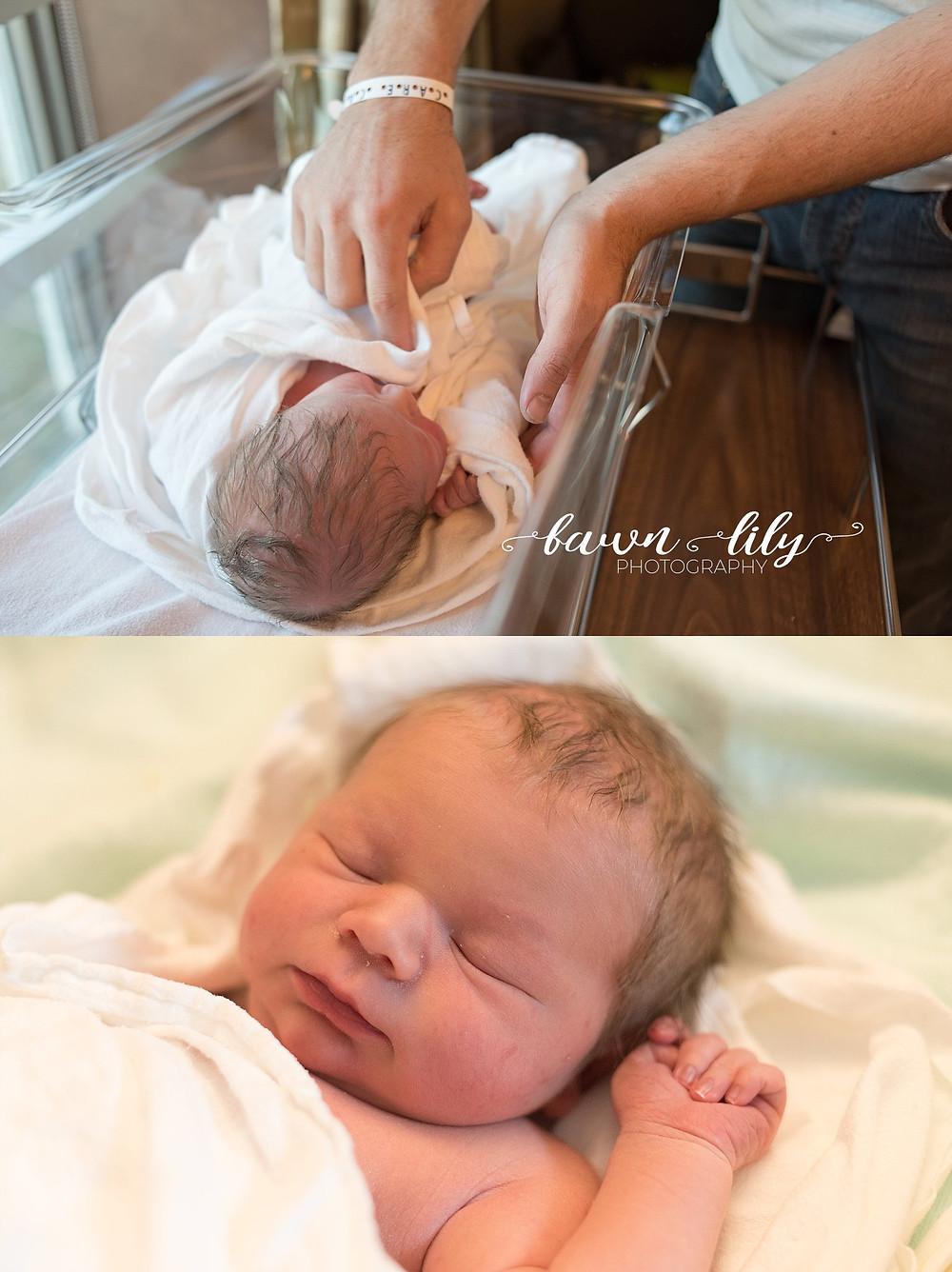 Newborn Baby in the Hospital Photos, Fresh 48, Hospital Newborn Photos Victoria BC Fawn Lily Photography