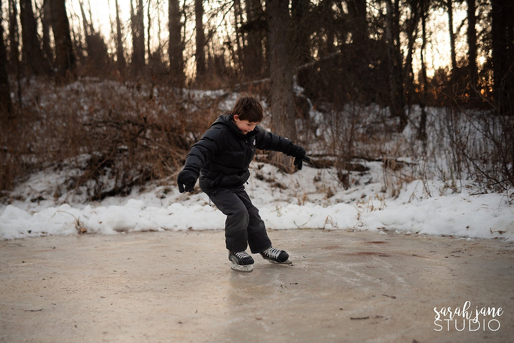 Boy Skating Outdoors