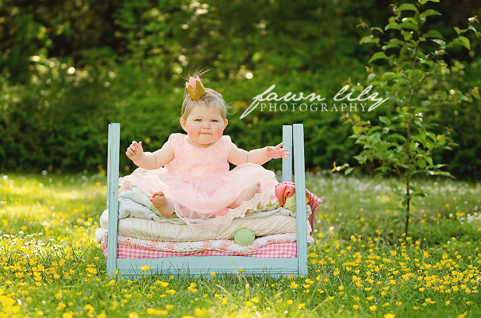 Sidney BC Baby Photographer, Fawn Lily Photography, Baby Portraiture, Princess and the Pea, Stylized Session, Fairy tale Photography