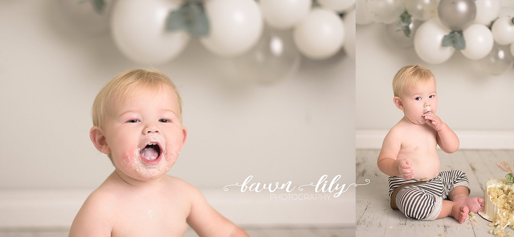 Baby Cake Smash, Neutral Cake Smash, Victoria BC Cake Smash Photographer