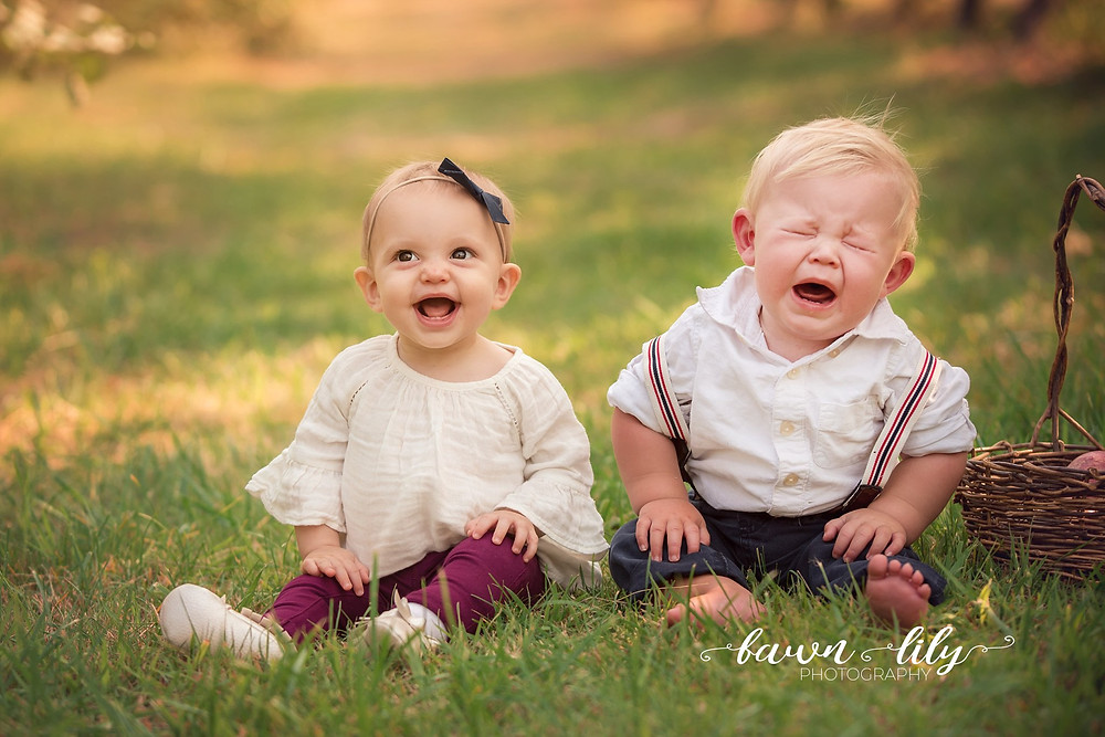Happy Baby, Sad Baby, Fawn Lily Photography, Apple Orchard Family Photography