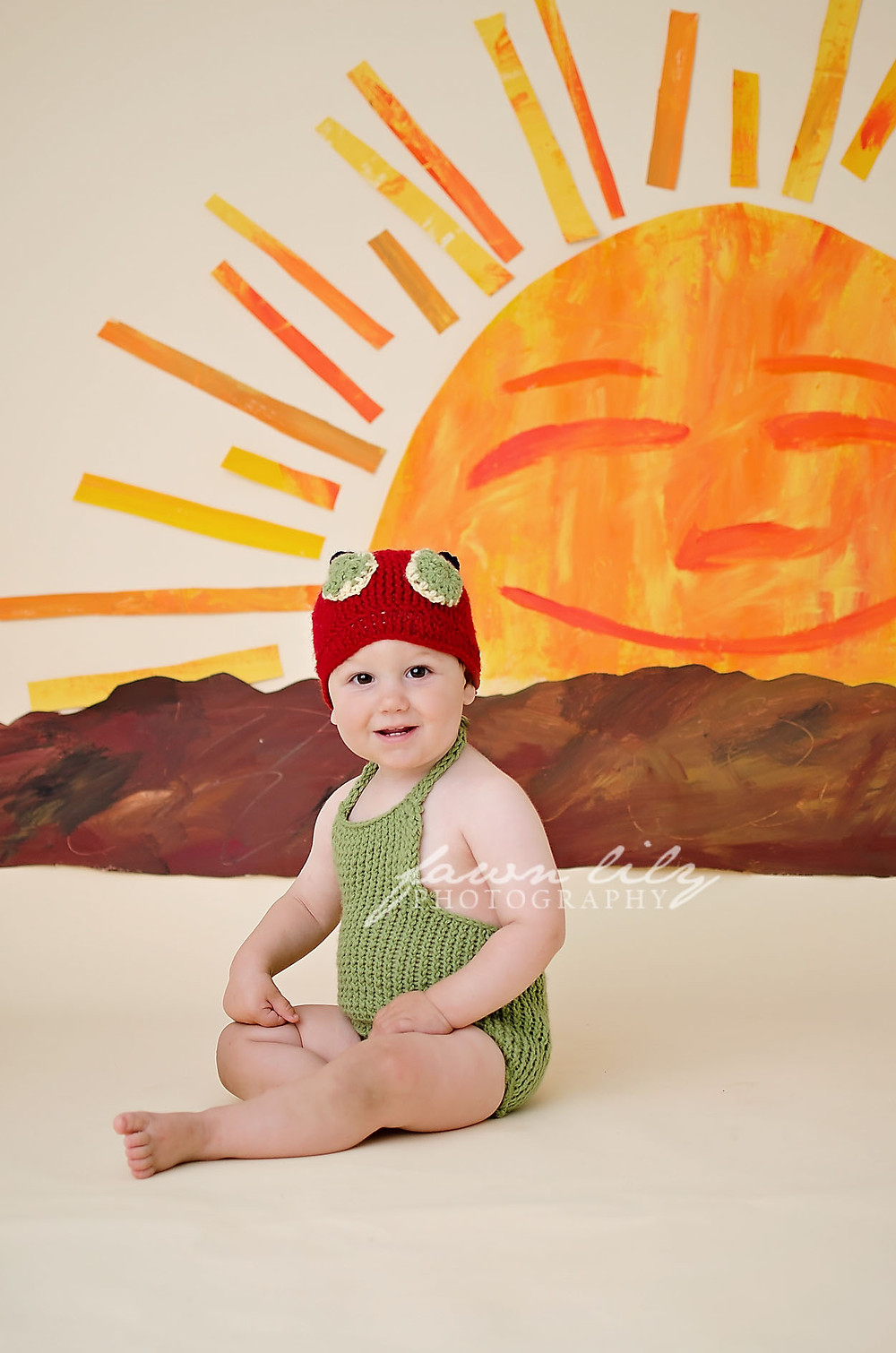 Huxley's Very Hungry Caterpillar Cake Smash by Fawn Lily Photography Sidney based studio photographer