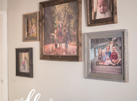 How to Plan a Wall Display with your Family Photographs
