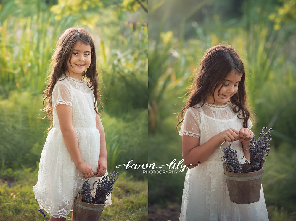 Little Girl with Lavender, What to expect from your family photo session, Victoria BC Photography, Family Photos